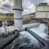 Pipes at Nesjavellir Geothermal Power Plant, Iceland Photographic Print by Green Light Collection