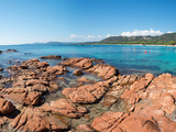 Palombaggia Beach in the Summer Morning, Corsica, France Photographic Print by Green Light Collection