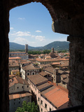 View of Buildings Through Window on Upper Level of Torre Guinigi, Lucca, Tuscany, Italy Photographic Print by Green Light Collection