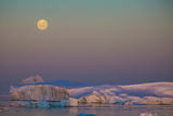The Rise of a Waxing Moon over Crystal Sound, Just North of the Antarctic Circle Photographic Print by Kent Kobersteen
