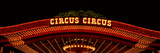 Panoramic View of Neon Lights of Circus Circus Casino, Las Vegas, Nv Photographic Print by Panoramic Images
