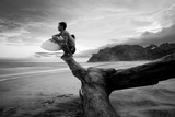 A Surfer Looks Out at the Pacific Ocean Photographic Print by Horton Horton