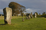 Standing Stones in the Prehistoric Stone Circles at the Avebury Henge Photographic Print by Nigel Hicks