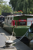 Canal Boats Along Regents Canal in London, England Photographic Print by Jeff Mauritzen