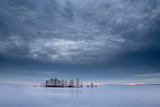 Sunrise Begins in a Sky Blanketed with Stratocumulus Clouds Photographic Print by Robbie George