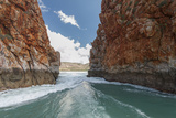 Water Pushed Through Gorges Due to Extreme Tidal Fluctuation Causing Temp Horizontal Waterfalls Photographic Print by Jeff Mauritzen