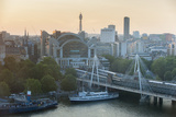 The Golden Jubilee Bridges and London Charing Cross Photographic Print by Jeff Mauritzen