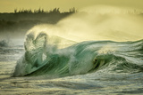 A Heart-Shaped Wave Rolls Toward Papohaku Beach on Molokai Photographic Print by Jonathan Kingston