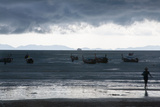 Fishermen Coming in as an Afternoon Storm Approaches Railay Beach Photographic Print by Erika Skogg