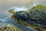 Waves Crash Along Staffa, an Island of Volcanic Basalt Columns Photographic Print by Jim Richardson