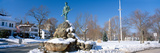 Revolutionary War Memorial in Winter, Lexington, Massachusetts Photographic Print by Panoramic Images
