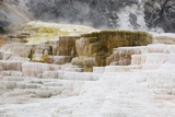 Abstract Landscape of Rock Terraces at Mammoth Hot Springs Photographic Print by Stacy Gold