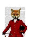 Fox Hunter 2 Portrait Prints by  Fab Funky