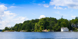 Cottages at the Lakeside, Lake Muskoka, Ontario, Canada Photographic Print by Panoramic Images