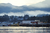 A Scenic View of Prince Rupert's Waterfront Community, at Sunrise Photographic Print by Jonathan Kingston
