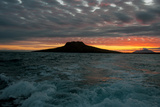 The Channel Between Sombrero Chino Island and Santiago Island in the Galapagos at Sunset Photographic Print by Karen Kasmauski