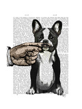 French Bulldog and Finger Moustache Prints by  Fab Funky