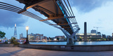 Low Angle View of Millennium Bridge, Thames River, Southwark, London, England Photographic Print by Panoramic Images