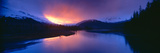 Sunset over Resurrection River and Exit Glacier at Harding Ice Field, Seward, Alaska Photographic Print by Panoramic Images
