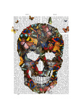 Butterfly Skull Posters by  Fab Funky