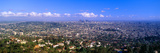 Los Angeles Skyline from Mulholland, California Fotografiskt tryck av Panoramic Images