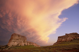 Clouds Hoover over Courthouse and Jail Rocks Photographic Print by Michael Forsberg