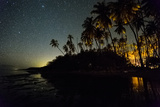 Starry Night in the Kapuaiwa Coconut Grove, Molokai Photographic Print by Jonathan Kingston