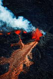Volcano Eruption at the Holuhraun Fissure Near Bardarbunga Volcano, Iceland Photographic Print by Panoramic Images