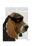Basset Hound Ninja Premium Giclee Print by  Fab Funky