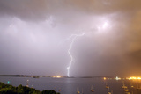 Lightning Strikes over Casco Bay Photographic Print by Robbie George
