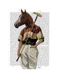 Polo Horse Portrait Premium Giclee Print by  Fab Funky