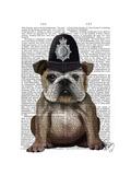 Bulldog Policeman Premium Giclee Print by  Fab Funky