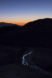 Mercury, Venus, and Crescent Moon Align in Morning Twilight over a Creek in the Great Salt Desert Photographic Print by Babak Tafreshi