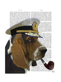 Basset Hound Sea Dog Art by  Fab Funky