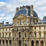 The Louvre Palace, Home to the Louvre Museum, Is a Former Royal Palace on the Bank of Seine River Photographic Print by Babak Tafreshi