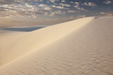 View of White Sand Dune at Sunrise in White Sands National Monument Photographic Print by Derek Von Briesen