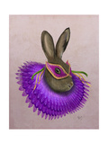 Mardi Gras Hare Premium Giclee Print by  Fab Funky