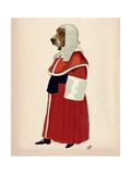 Basset Hound Judge Full Premium Giclee Print by  Fab Funky