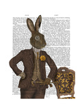 Dapper Hare Premium Giclee Print by  Fab Funky