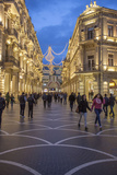 Pedestrians Stroll Through Baku's Shopping District Photographic Print by Will Van Overbeek