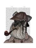Schnauzer Sherlock Poster by  Fab Funky