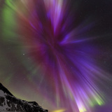 Aurora Borealis, the Northern Lights, in a Spectacular Crown, Aurora Corona Fotografisk tryk af Babak Tafreshi