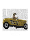Meerkat in Hot Rod Premium Giclee Print by  Fab Funky
