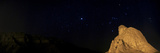 Sirius, and Orion and Taurus Above Oghab Kooh, a Mountain Resembling a Sitting Eagle Fotografisk tryk af Babak Tafreshi