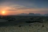 On the Right Is Setakhr-E Gozin or Kuh-E Estekhar, a Sacred Mountain with Achaemenid Empire Ruins Fotografisk tryk af Babak Tafreshi