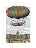 Jardin De Tuileries Hot Air Balloon Prints by  Fab Funky