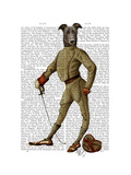 Greyhound Fencer Dark Full Premium Giclee Print by  Fab Funky