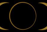 A Composite Image of an Annular Solar Eclipse Fotografisk tryk af Babak Tafreshi