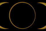 A Composite Image of an Annular Solar Eclipse Photographic Print by Babak Tafreshi