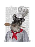 Schnauzer Chef Prints by  Fab Funky